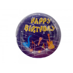 23cm Happy Birthday Paper plates-Retail packaging -Oh My Packaging